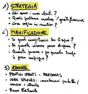 Strategia, pianificazione e azione