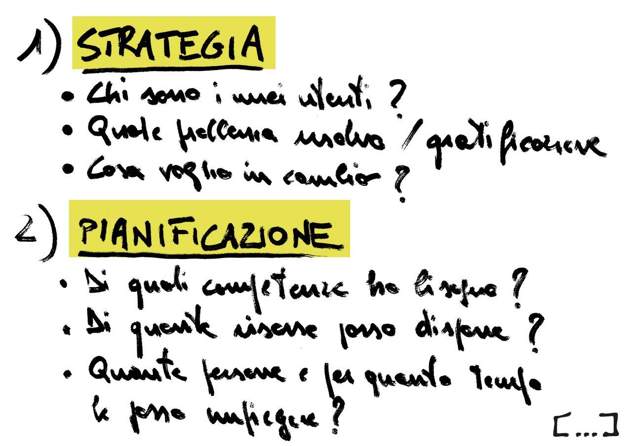 Strategia, pianificazione e azione-lav